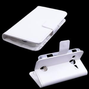 Samsung Galaxy Xcover 2 (GT-S7710) Tok álló, bőr (FLIP, oldalra nyíló, asztali tartó funkció) FEHÉR