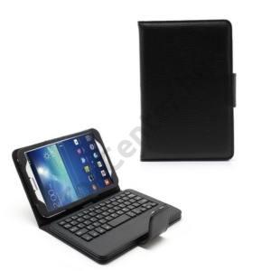 Samsung Galaxy Tab3 8.0 (SM-T310) Tok álló, bőr (BLUETOOTH billentyűzet, asztali tartó funkció, QWERTY, angol nyelvű) Flip, FEKETE