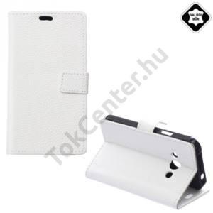 Samsung Galaxy Xcover 3 (SM-G388) Tok álló, valódi bőr (FLIP, oldalra nyíló, asztali tartó funkció) FEHÉR