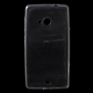 Microsoft Lumia 535 Telefonvédő gumi / szilikon (ultravékony) ÁTLÁTSZÓ