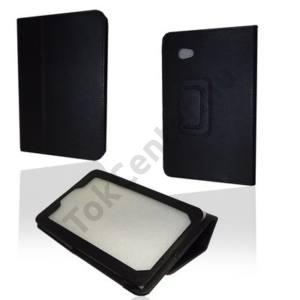Samsung Galaxy Tab 7.0 Plus (P6200) Tok álló, bőr (FLIP, állítható asztali tartó funkció) FEKETE
