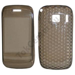 Nokia C2-06 Telefonvédő gumi / szilikon (gyémánmintás) FÜSTSZÍNŰ