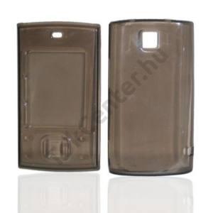 Nokia X3 Telefonvédő gumi / szilikon (gyémánmintás) FÜSTSZÍNŰ