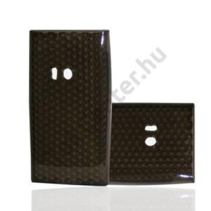 Nokia N9-00 Telefonvédő gumi / szilikon (gyémánmintás) FÜSTSZÍNŰ