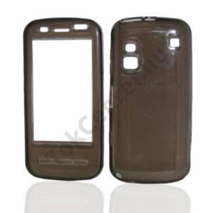 Nokia C6-00 Telefonvédő gumi / szilikon (gyémánmintás) FÜSTSZÍNŰ