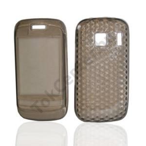 Nokia C2-02 Telefonvédő gumi / szilikon (gyémánmintás) FÜSTSZÍNŰ