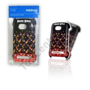 Nokia Lumia 710 Műanyag telefonvédő Angry Birds FEKETE