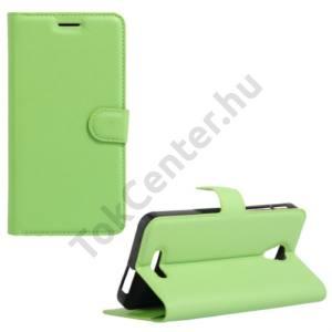 Alcatel Pop 4 plus (OT-5056) Tok álló, bőr (FLIP, oldalra nyíló, asztali tartó funkció) ZÖLD