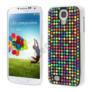 Samsung Galaxy S IV. (GT-I9500) Műanyag telefonvédő (3D, pöttyös, tükrös belsővel) SZÍNES