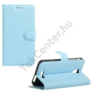 Alcatel Pop 4 plus (OT-5056) Tok álló, bőr (FLIP, oldalra nyíló, asztali tartó funkció) VILÁGOSKÉK