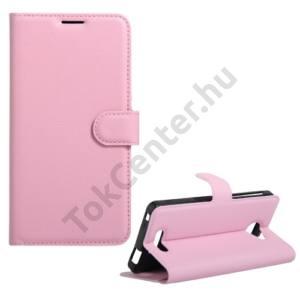 Alcatel Pop 4S (OT-5095) Tok álló, bőr (FLIP, oldalra nyíló, asztali tartó funkció) RÓZSASZÍN