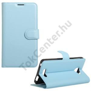 Alcatel Pop 4S (OT-5095) Tok álló, bőr (FLIP, oldalra nyíló, asztali tartó funkció) VILÁGOSKÉK
