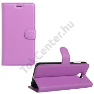 Huawei Y6 II Compact/Y5 II Tok álló, bőr (FLIP, oldalra nyíló, asztali tartó funkció) LILA