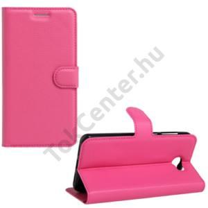 Huawei Y6 II Compact/Y5 II Tok álló, bőr (FLIP, oldalra nyíló, asztali tartó funkció) MAGENTA