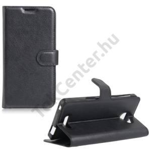 Alcatel Pop 4S (OT-5095) Tok álló, bőr (FLIP, oldalra nyíló, asztali tartó funkció) FEKETE