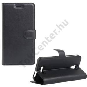 Alcatel Pop 4 plus (OT-5056) Tok álló, bőr (FLIP, oldalra nyíló, asztali tartó funkció) FEKETE