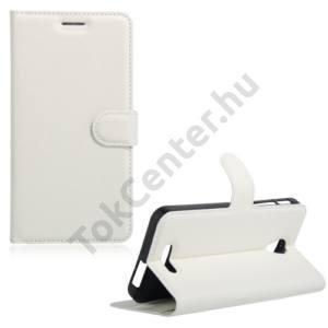 Alcatel Pop 4 plus (OT-5056) Tok álló, bőr (FLIP, oldalra nyíló, asztali tartó funkció) FEHÉR