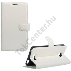 Alcatel Pop 4S (OT-5095) Tok álló, bőr (FLIP, oldalra nyíló, asztali tartó funkció) FEHÉR