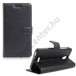 Alcatel Pop 4 (OT-5051) Tok álló, bőr (FLIP, oldalra nyíló, asztali tartó funkció) FEKETE
