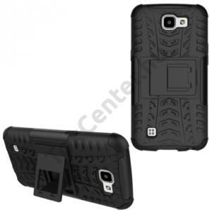LG K4 (K120e) Defender műanyag telefonvédő (közepesen ütésálló, gumi / szilikon belső) FEKETE