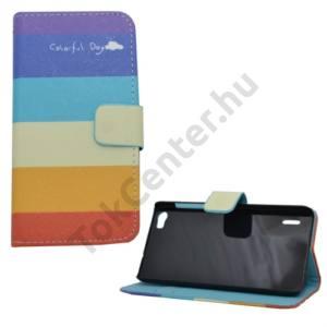 Huawei Honor 6 Tok álló, bőr (FLIP, mágneses, oldalra nyíló, bankkártya tartó, asztali tartó funkció, csíkos) SZÍNES