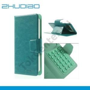 ZHUDIAO UNIV tok álló, bőr (FLIP, mágneses,bankkártya tartó,asztali tartó funkció, tapadókorongos rögzítés) KÉK