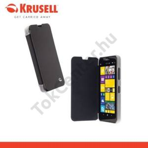 Nokia Lumia 630 KRUSELL FlipCover BODEN műanyag telefonvédő (FLIP, átlátszó hátlap, oldalra nyíló) FEKETE