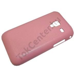 Samsung Galaxy Ace Plus (GT-S7500) Műanyag telefonvédő (bőrhatás) RÓZSASZÍN