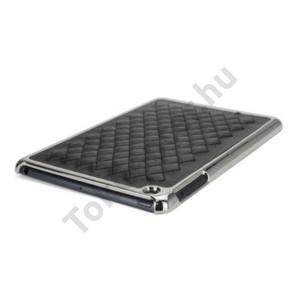 Apple IPAD mini Műanyag telefonvédő (bőr hátlap) FEKETE KIFUTÓ