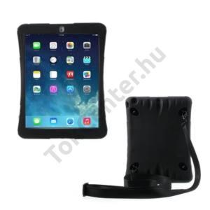 Apple IPAD Air Defender műanyag telefonvédő (közepesen ütésálló, gumi / szilikon belső, vállpánt) FEKETE