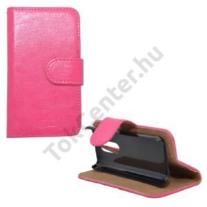 Nokia 108 Tok álló, bőr (FLIP, mágneses, oldalra nyíló, bankkártya tartó, asztali tartó funkció) RÓZSASZÍN