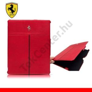 Samsung Galaxy Tab 10.1 (P7500) Ferrari California műanyag telefonvédő (bőr hátlap, metál logóval) PIROS
