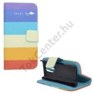 Nokia 108 Tok álló, bőr (FLIP, mágneses, oldalra nyíló, bankkártya tartó, asztali tartó funkció, csíkos) SZÍNES