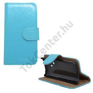 Nokia 220 Tok álló, bőr (FLIP, mágneses, oldalra nyíló, bankkártya tartó, asztali tartó funkció) VILÁGOSKÉK