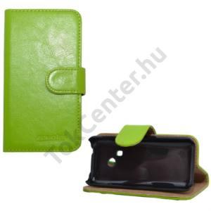 Nokia 220 Tok álló, bőr (FLIP, mágneses, oldalra nyíló, bankkártya tartó, asztali tartó funkció) ZÖLD