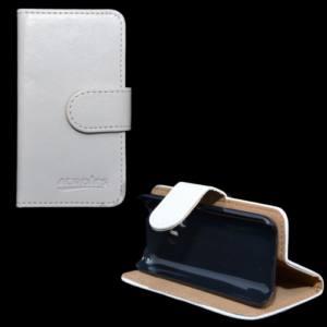 Nokia 220 Tok álló, bőr (FLIP, mágneses, oldalra nyíló, bankkártya tartó, asztali tartó funkció) FEHÉR