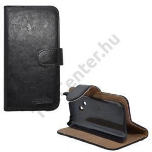 Nokia 220 Tok álló, bőr (FLIP, mágneses, oldalra nyíló, bankkártya tartó, asztali tartó funkció) FEKETE