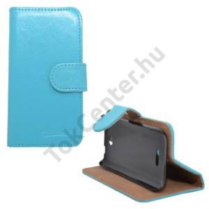 Nokia 225 Tok álló, bőr (FLIP, mágneses, oldalra nyíló, bankkártya  tartó, asztali tartó funkció) VILÁGOSKÉK