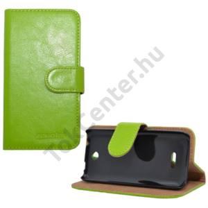 Nokia 225 Tok álló, bőr (FLIP, mágneses, oldalra nyíló, bankkártya  tartó, asztali tartó funkció) ZÖLD
