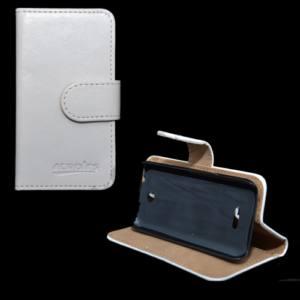 Nokia 225 Tok álló, bőr (FLIP, mágneses, oldalra nyíló, bankkártya  tartó, asztali tartó funkció) FEHÉR