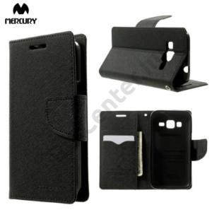 Samsung Galaxy Core Prime (SM-G360) MERCURY Fancy Diary tok álló, bőr (FLIP, mágneses, oldalra nyíló, bankkártya tartó, asztali tartó funkció) FEKETE