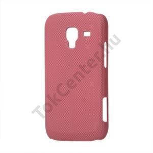 Samsung Galaxy Ace 2 (GT-I8160) Műanyag telefonvédő (lyukacsos mintás) RÓZSASZÍN