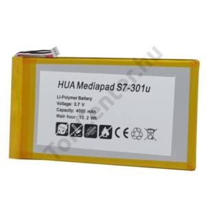 Huawei MediaPad (S7-301u) Akku 4000 mAh LI-Polymer (belső akku, beépítése szakértelmet igényel!, HB3G1H kompatibilis)
