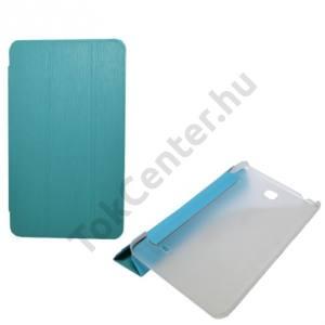Samsung Galaxy Tab4 7.0 3G (SM-T231) Tok álló, bőr (FLIP, oldalra nyíló, TRIFOLD asztali tartó funkció) VILÁGOSKÉK
