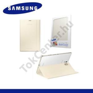 Samsung Galaxy Tab S 8.4 LTE (SM-T705) Műanyag telefonvédő (FLIP, oldalra nyíló, asztali tartó funkció) CSONTSZÍN