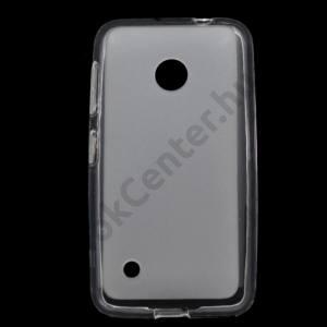 Nokia Lumia 530 Telefonvédő gumi / szilikon (fényes keret) ÁTLÁTSZÓ