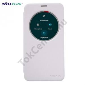Asus Zenfone 2 (ZE551ML) NILLKIN SPARKLE műanyag telefonvédő (mikroszálas bőr flip, oldalra nyíló, S-View Cover) FEHÉR