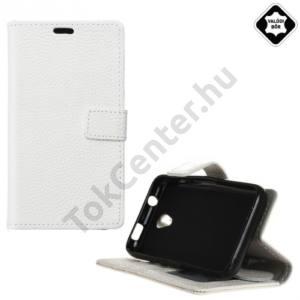 Alcatel Pixi 4 (3.5) (OT-4017) Tok álló, valódi bőr (FLIP, mágneses, oldalra nyíló, asztali tartó funkció) FEHÉR