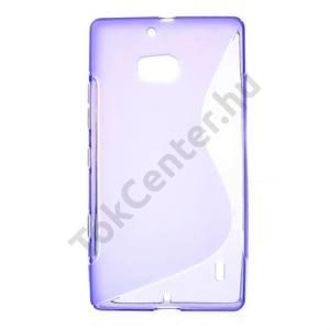 Nokia Lumia 929 Telefonvédő gumi / szilikon (S-line) LILA