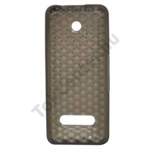 Nokia 301 Telefonvédő gumi / szilikon (gyémántmintás) SZÜRKE